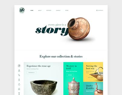YK Antiques website