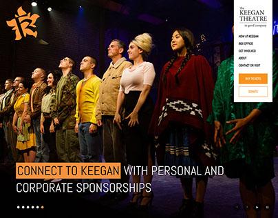 Keegan Theatre Website, Logos and Marketing