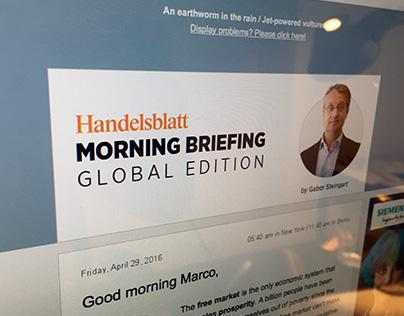 Handelsblatt – Morning Briefing, Global Edition
