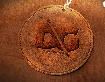 Embossed Leather Logo Mockup