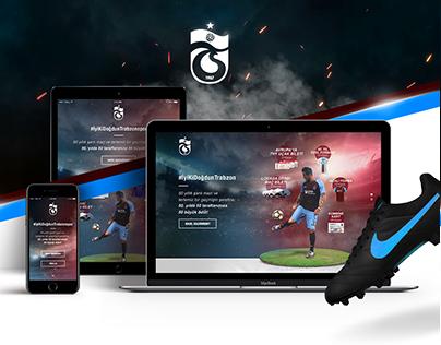 Trabzonspor Landing Page Design