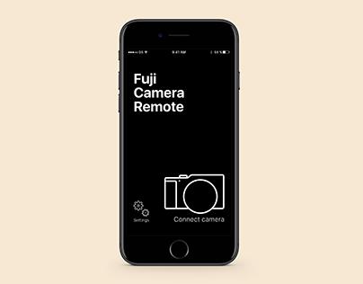 Fuji Camera Remote – app redesign