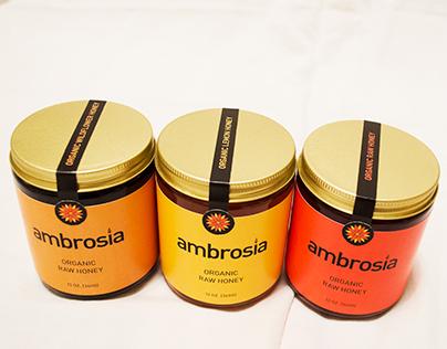 Ambrosia Honey Rebrand/Packaging
