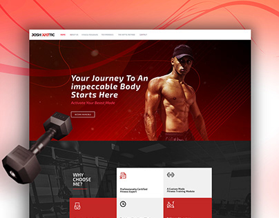 Fitness Trainer Website Design