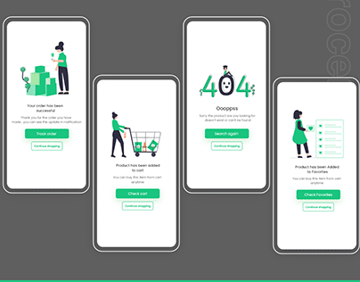 Grocery Store Android/iPhone App UI/UX Concept