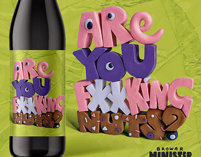 ARE YOU F**KING NUTS? beer label