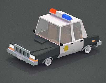 Stylized polygonal vehicles