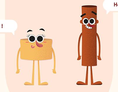cinnabon ad.   character design & animation