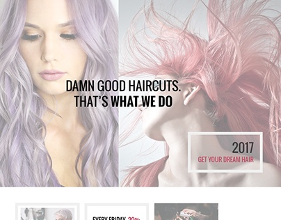 A Hairdresser Freebie - A Gorgeous Free Divi Layout for