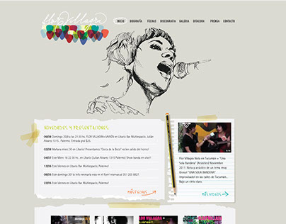 Sitio web Flor Villagra