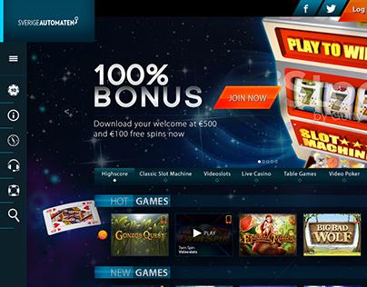 Proposed Casino Website.
