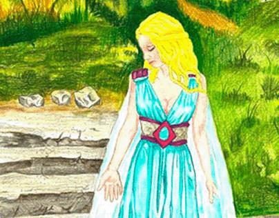 Blue Princess: Original A4 Artwork