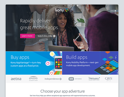 Kony homepage redesign