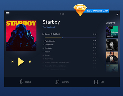 Music Payer / UI & UX / Sketch free download