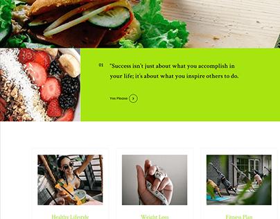 Diet & Nutrition Website Creation Project
