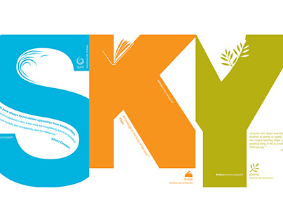 SKY: Spirit, Know, Young | Typography Concept
