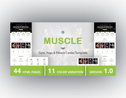 MUSCLE - Gym, Yoga & Fitness Center Template