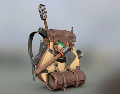 Survival Guitar BackPack (Low Poly)