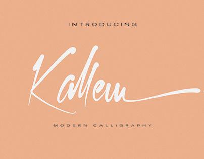 Free Kallem Script Font