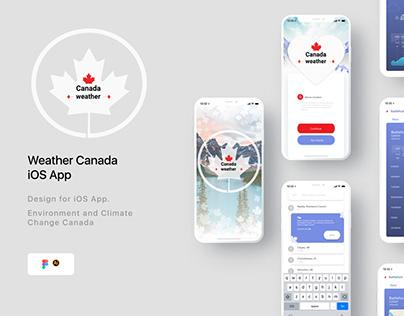 Weather Canada iOS App Forecast design