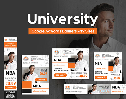University - Google Adwords Banners - 19 Sizes