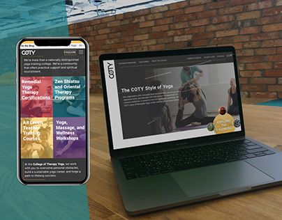 Professional Yoga College UX/UI Site Design