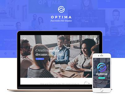 Optima - Multipurpose PSD Template
