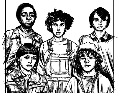 Stranger Things Ink studies