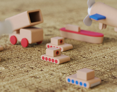 Wooden tabletop toy stationery