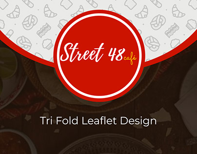 Street 48 Cafe Tri Fold Menu Leaflet/Menu Design