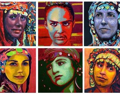 "Projet: Portraits ""Regard-moi, Mona Lisa's, 2010"