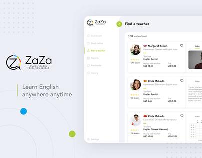 Dashboard UX/UI Design - Online school education abroad