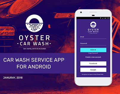 UX/UI Research Project for Car Wash Service App