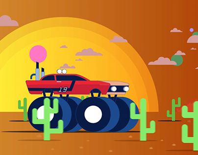 Sports Car to Monster Truck Animation