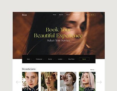 Beau - Salon Booking Web Design