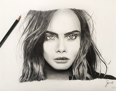 Cara Delevingne Drawing