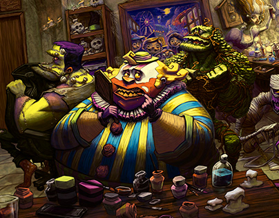 Monster Mansion - Board Game Illustrations