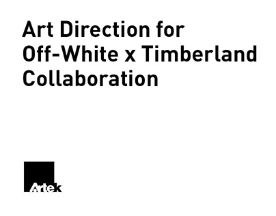 Art Direction for Off-White x Timberland Collaboration