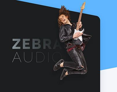 ZEBRA AUDIO – Website and UI/UX design