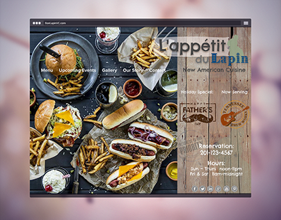 Restaurant Branding Design   L'appétit du Lapin