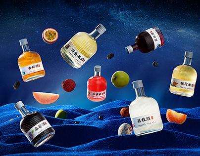 同福永X鹿马影像 创意果酒饮品拍摄 电商美食摄影