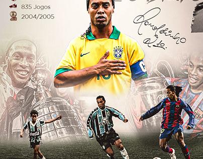 Flyer em homenagem ao Ronaldinho Gaúcho