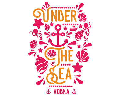 Under The Sea Vodka Label - Student Assignment