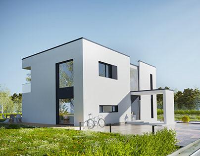 Projekt i wizualizacje budynku w Norwegii