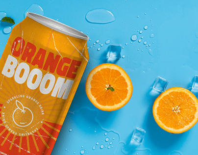 Orange Boom - Soda Label & Packaging