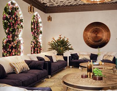 Interior design of Palace in Abu Dhabi.