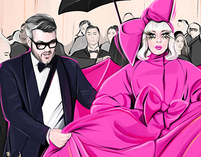Lady Gaga and Brandon Maxwell on Met Gala