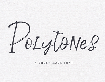 Polytones | A Brush Made Font