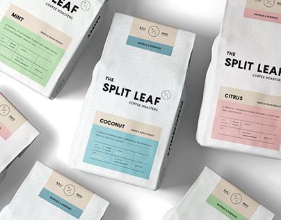 The Split Leaf Coffee Roasters Branding & Packaging