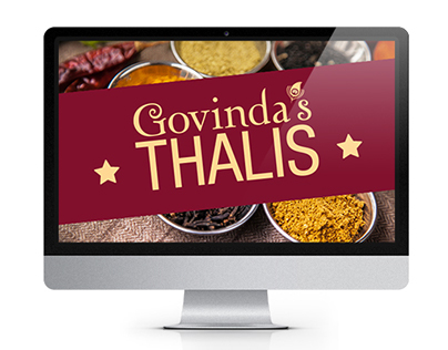 Thali Menu poster & photoshoot for Govinda's restaurant